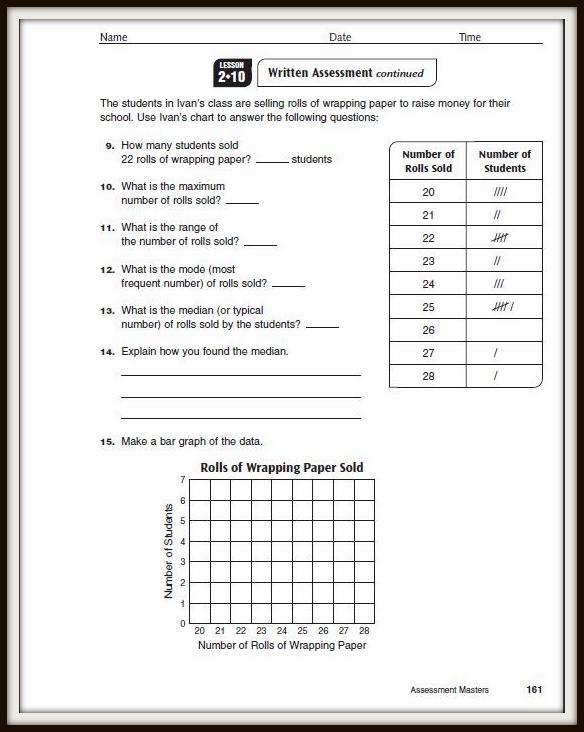 math worksheet : math  a teacher out of the box : Everyday Math 3rd Grade Worksheets